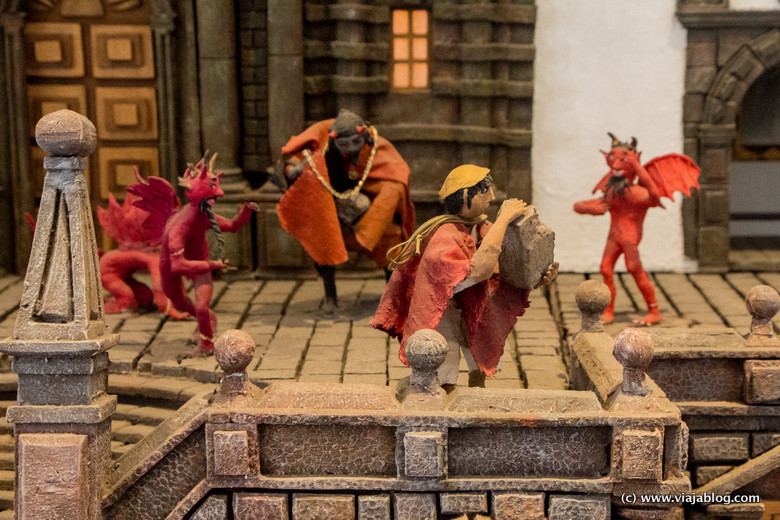 Cantuña y el Diablo construyendo la Iglesia de San Francisco, Quito, Ecuador