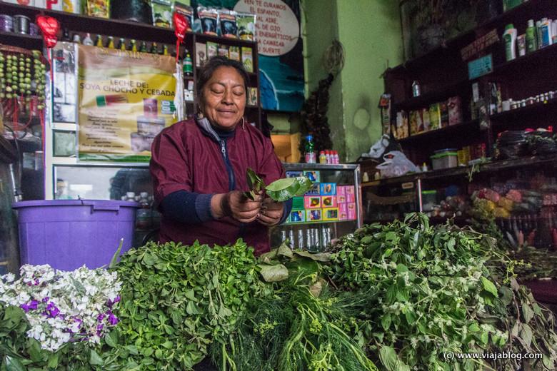 Enma Lagla, Sanadora con Hierbas, Quito, Ecuador