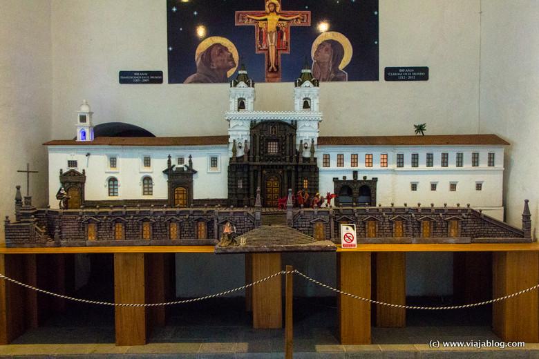 Maqueta de la Iglesia y Convento de San Francisco, Quito, Ecuador