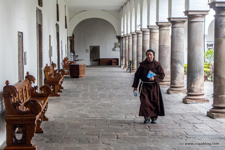 Monje franciscano, Convento San Francisco, Quito, Ecuador