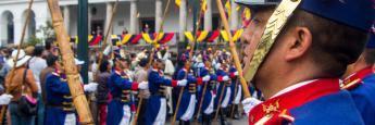 Ceremoniia del Cambio de la Guardia Presidencial, Quito, Ecuador