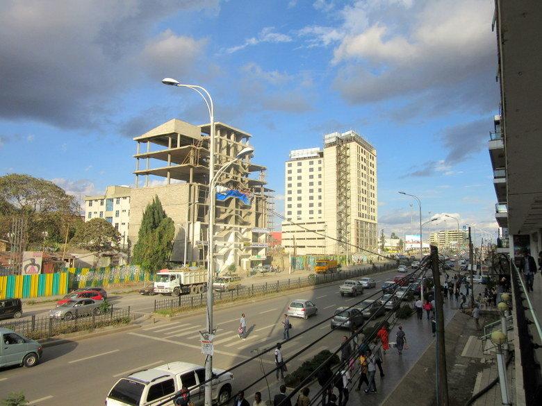 El distrito de Bole, donde se encuentra el aeropuerto de Addis Abeba. Foto (C) David Escribano