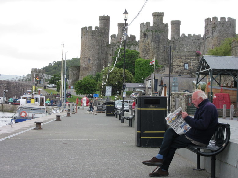 El castillo de Conwy