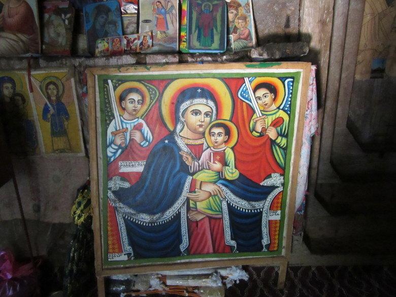 Pinturas del interior de Debre Maryam