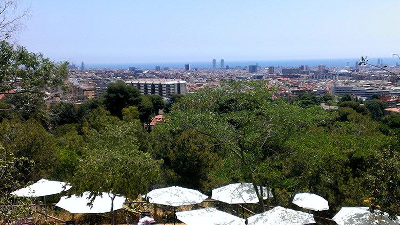 Vistas desde el restaurante del Parc de l'Oreneta