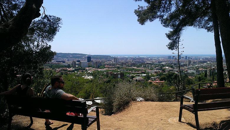 Las estupendas vistas del Parc de l'Oreneta
