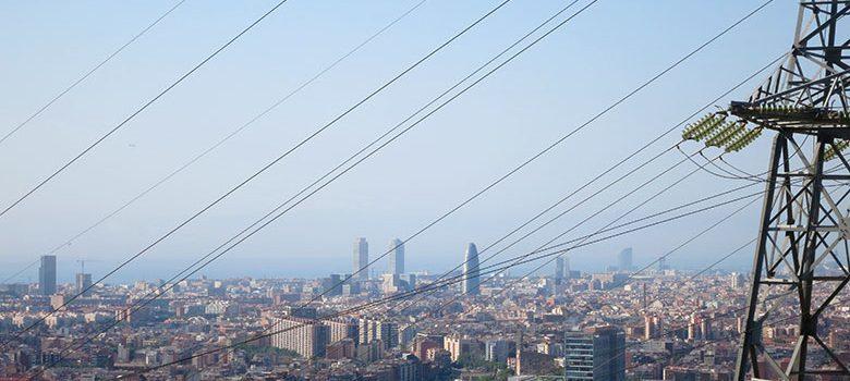 Vistas a Barcelona desde el mirador de Torre Baró