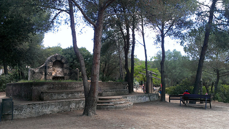 Zona de juegos en el Parc de l'Oreneta