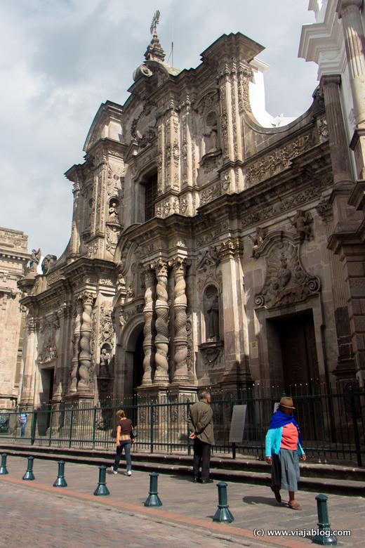 Fachada de la Iglesia de la Compañía de Jesús, Quito, Ecuador