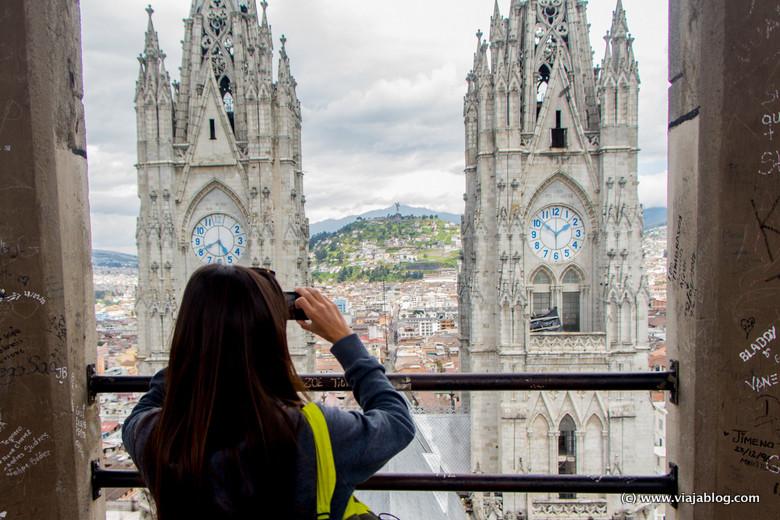 Mirador de la torre, Basílica del Voto Nacional, Quito (Ecuador)