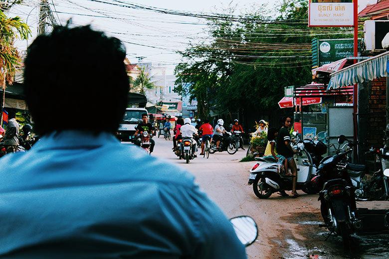 Tráfico en Siem Reap