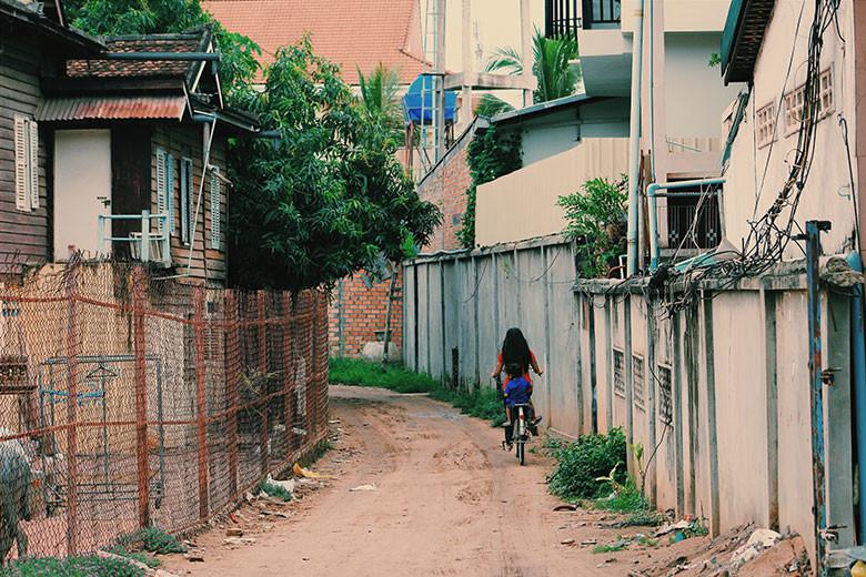 Casas y callejuelas en Siem Reap
