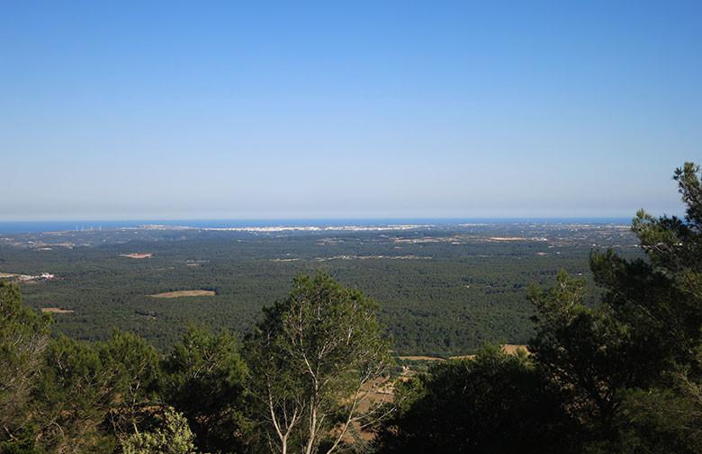 Vistas a las costas del sureste desde la cima del Toro