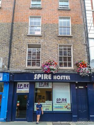Fachada del Spire Hostel en Dublín