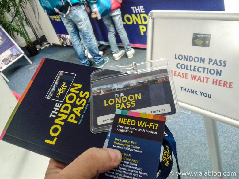Recogiendo la Tarjeta y Guía The London Pass en Londres