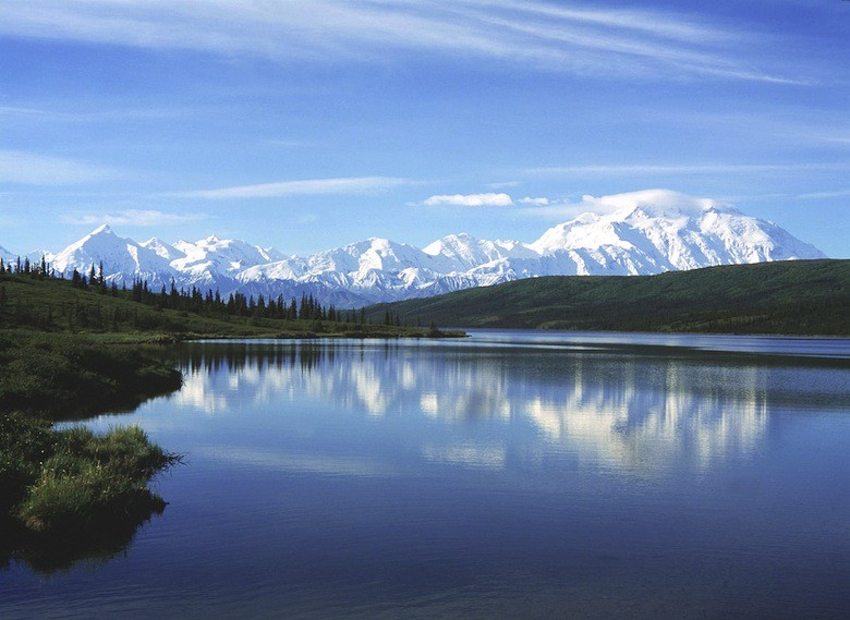 Mount McKinley y Wonder Lake, Denali National Park, Alaska (.Foto CC: BillC )