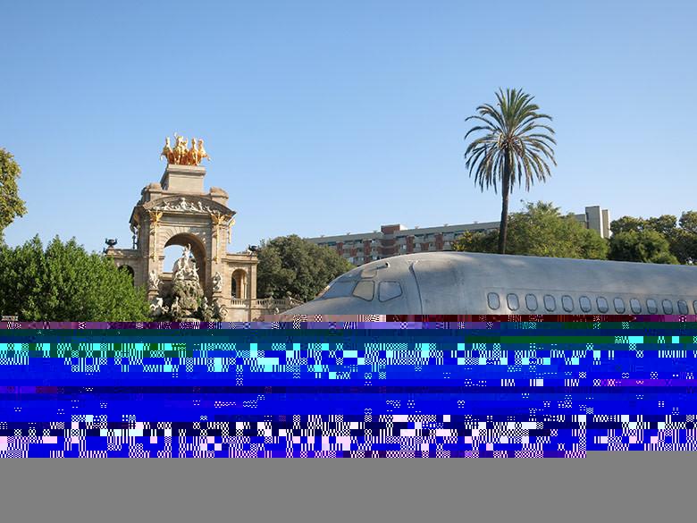El avión que abrirá las funciones principales de la Merçè en el Parc de la Ciutadella