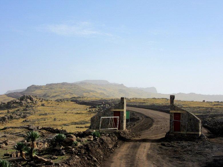Puerta de entrada al parque de las Simien