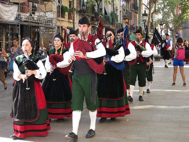 Desfile tradicional por el Passeig del Born