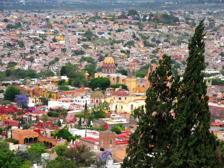 Vistas desde uno de los miradores de San Miguel de Allende
