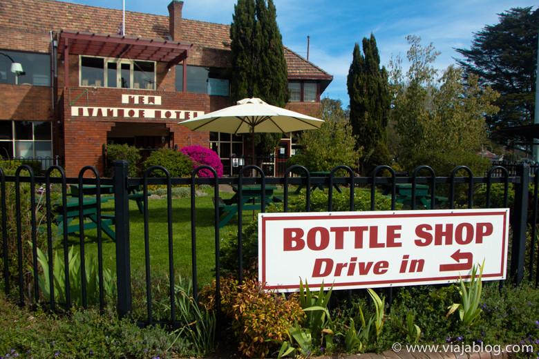 Bottle Shop de un hotel, Blackheath, Australia