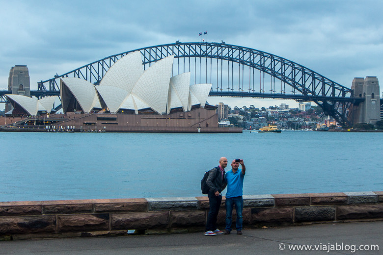 Selfie frente a la Sydney Opera House, Sidney, Australia