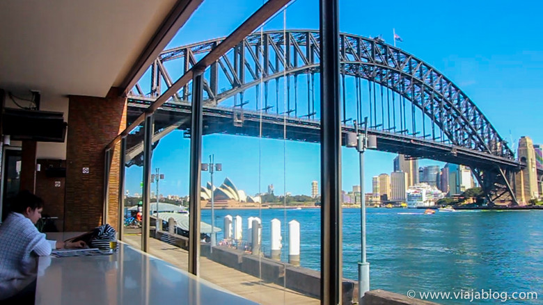 Vistas desde The Deck, Luna Park, Sidney, Australia