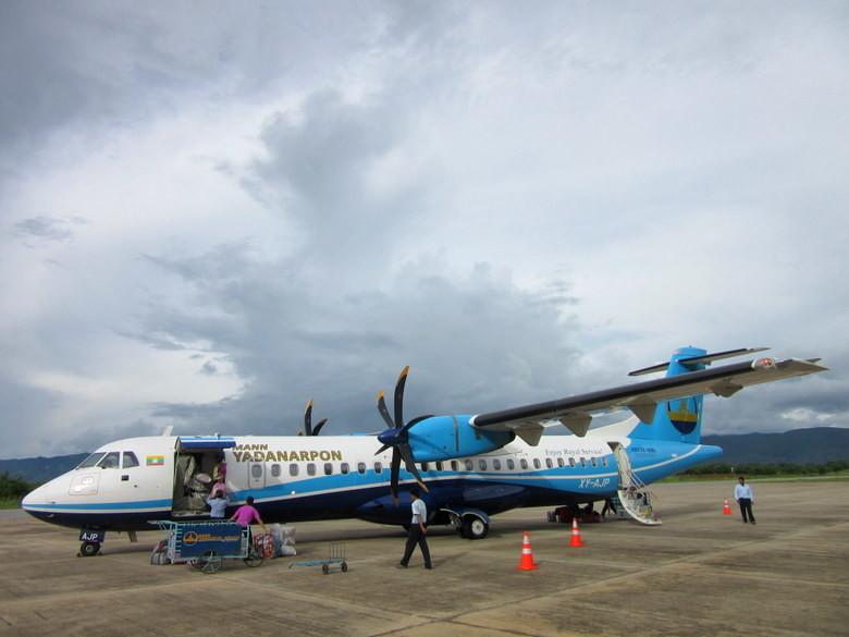 El avión con el que llegamos a Kengtung