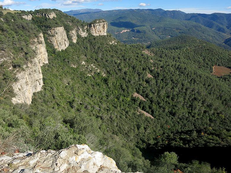 Panorama de los Cingles de Bertí
