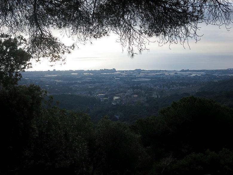 Vistas a contraluz del Mediterráneo