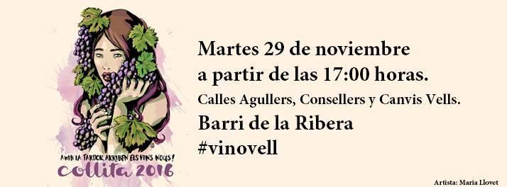 Cartel del Vi Novell del barrio de la Ribera 2016