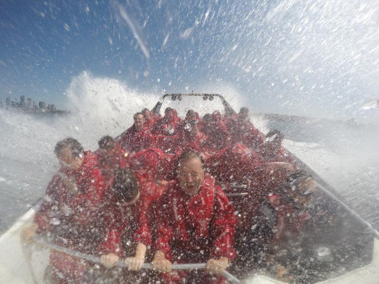 Frenazo en seco Oz Jet Boating, Sidney, Australia