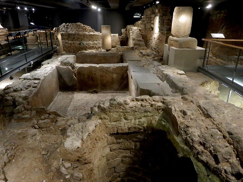 Estrato de la antigua Barcino romana