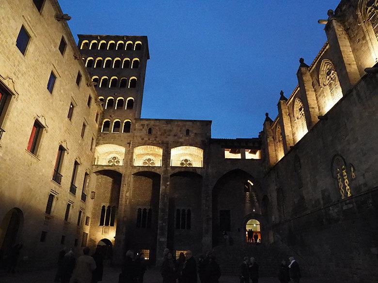 La Plaza del Rei donde se encuentran las principales salas del Museo de Historia de Barcelona
