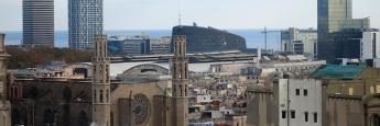 Vistas a Santa María del Mar y las Torres Mafre
