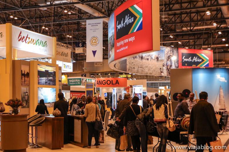 Stands de países de África, FITUR Feria Internacional de Turismo, Madrid