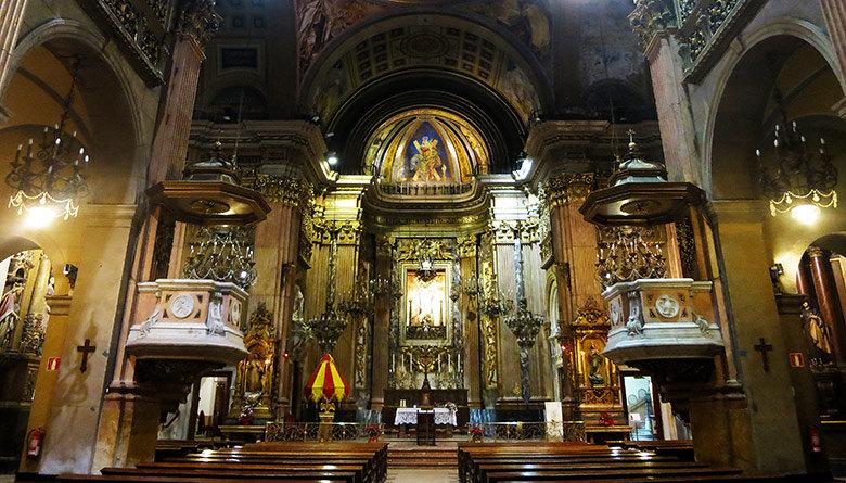 El retablo de la Basílica de la Merçè