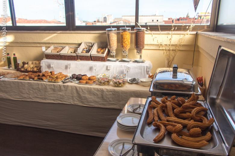 Parte del Buffet de Desayuno en el Hotel Exe Alfonso VIII de Plasencia