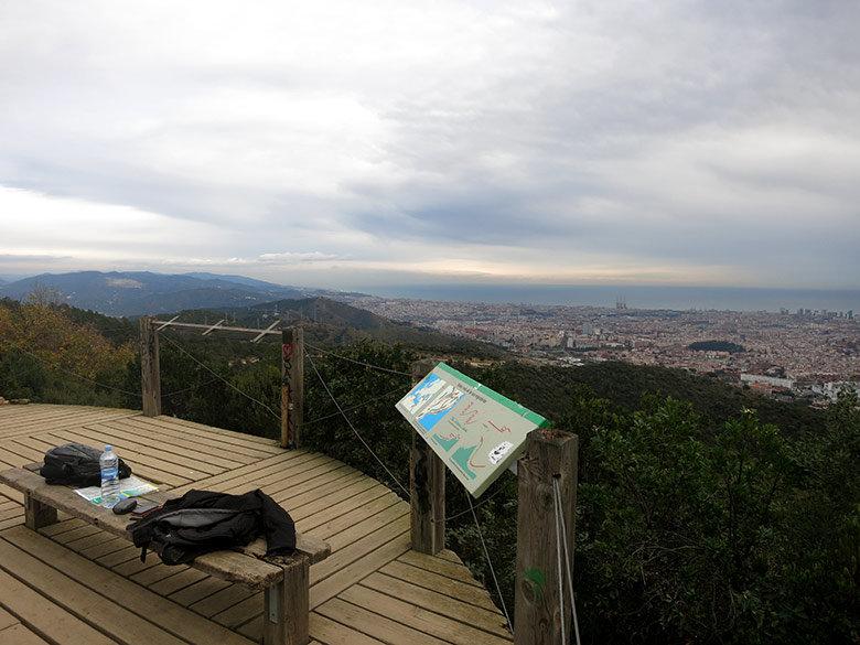 Mirador del Turó de Magarola, un lugar ideal para descansar a medio camino