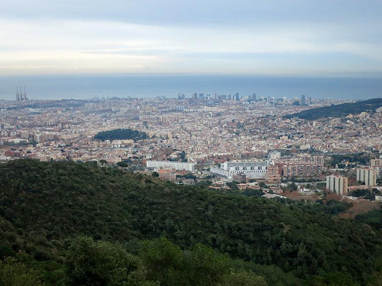 Vistas a la zona más al norte de Barcelona