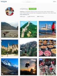 Viajablog en Instagram
