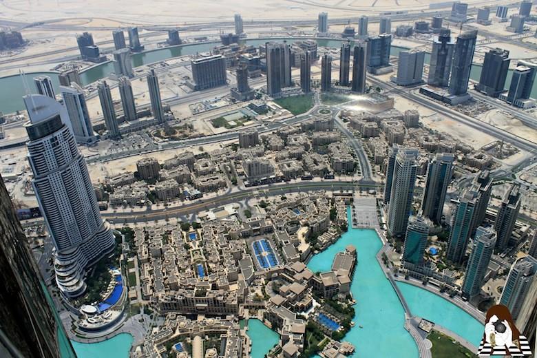 Vistas de Dubái desde el Burj Khalifa