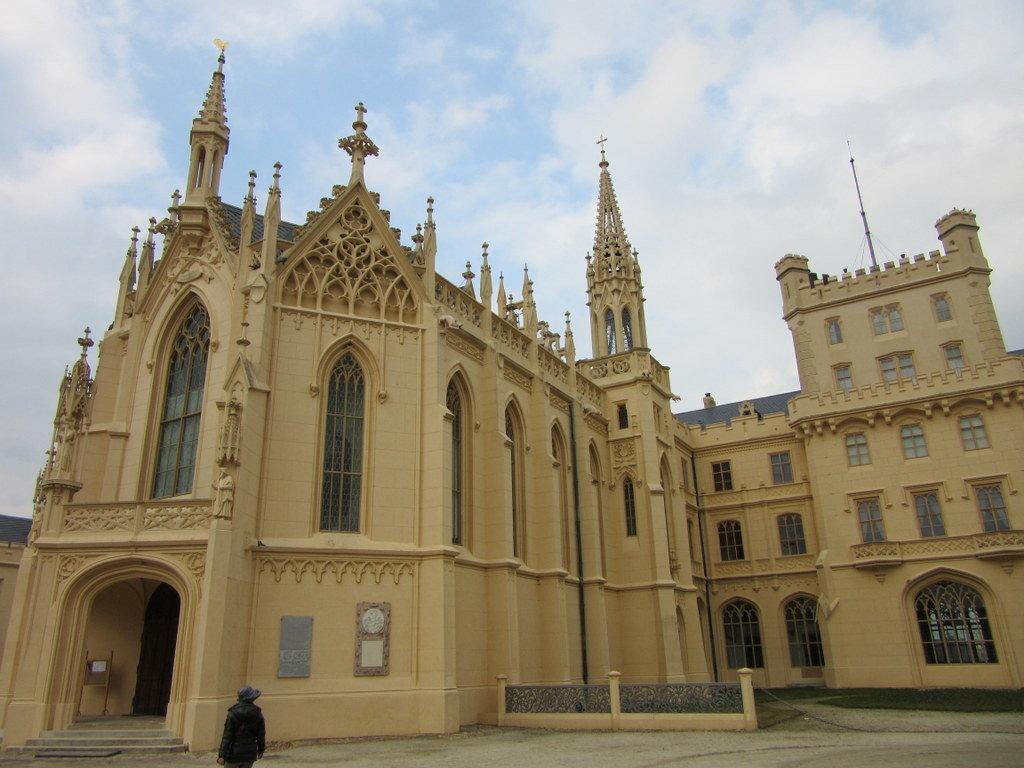 Fachada del castillo de Lednice