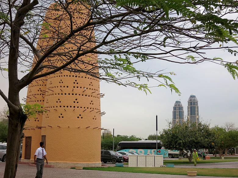 Una de las pajareras que pueden contemplarse en Katara