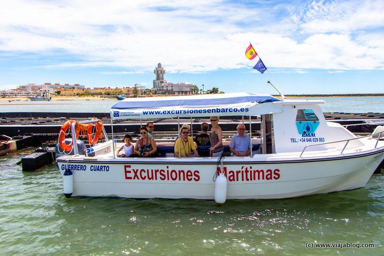 Excursión en barco por Isla Cristina (Huelva)