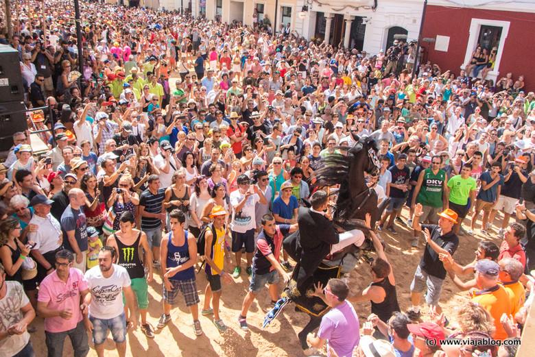 Jaleo en Fiestas de Ciudadela (Menorca)