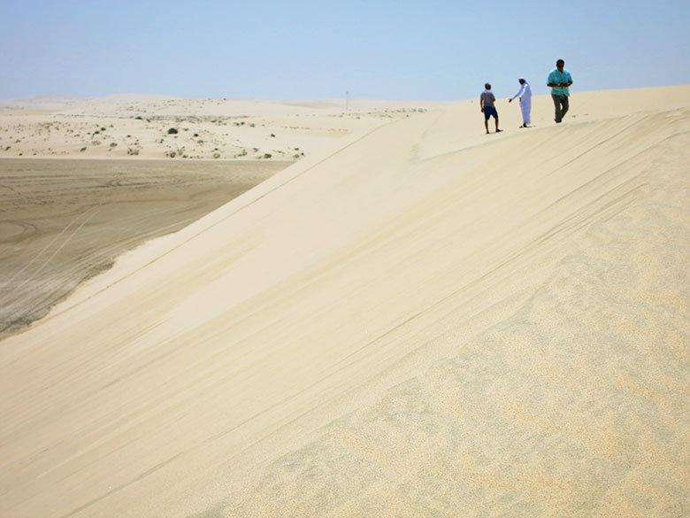 Caminando sobre las dunas