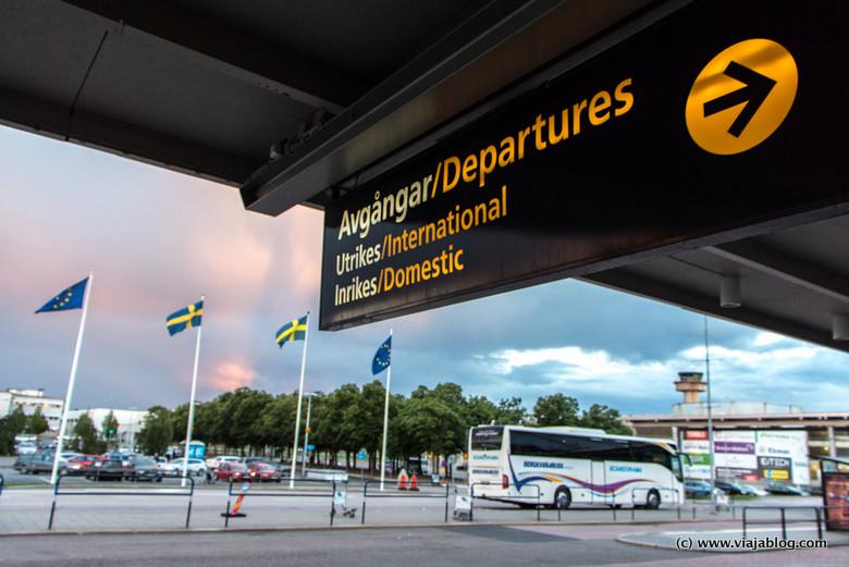 Acceso a Salidas Aeropuerto de Gotemburgo