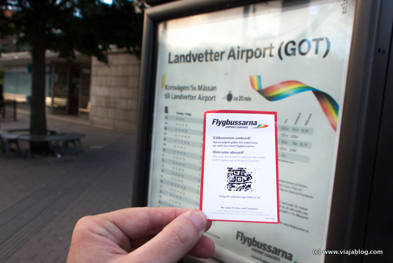 Billete de Autobús a Aeropuerto Gotemburgo