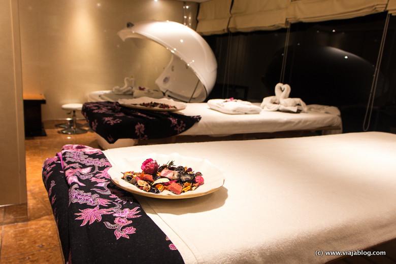 Mesas de masaje en el MSC Opera de Crucero por el Caribe